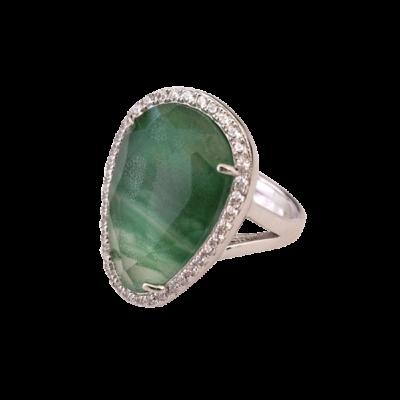anillo cuarzo verde