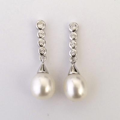 pendientes circonitas perla