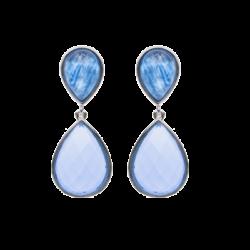 pendientes piedra azul blue drops joyas con memoria