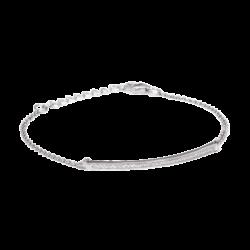 Pulsera curve plata circonitas